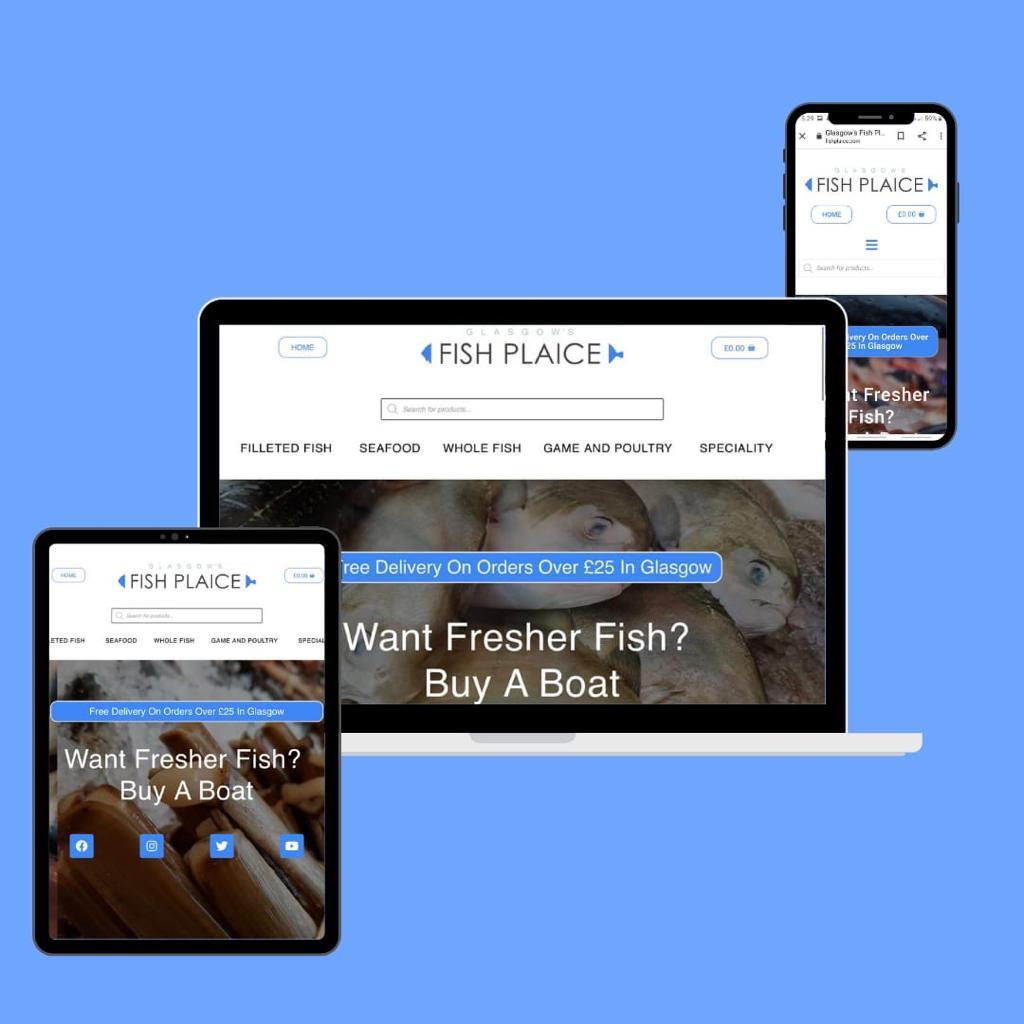 Fish Plaice KSM Web Design
